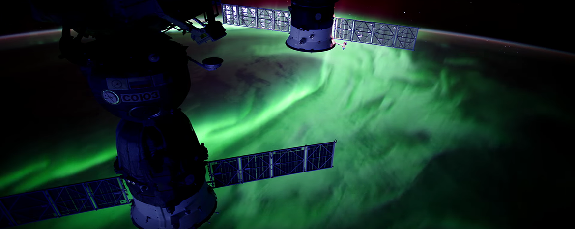 Aurora from space, cortesy of NASA